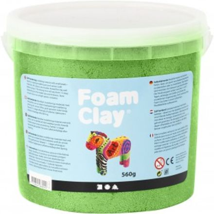Foam clay emmertje 560 gr ,groen, metallic