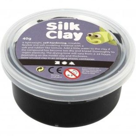 Silk Clay®, zwart, 40gr