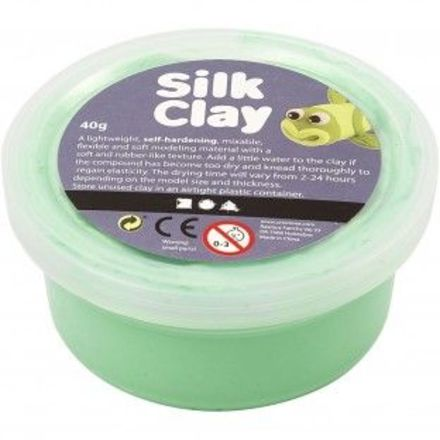 Silk Clay®, lys grøn, 40gr